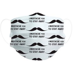 Pavallion Mustache Print 7-Pc Disposable Face Masks