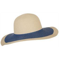 Mad Hatter Womens Contrast Brim Floppy Sun Hat