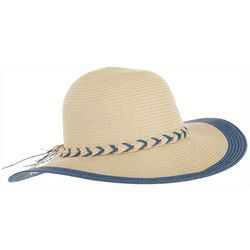 Madd Hatter Womens Braided Band Floppy Hat