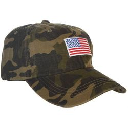 Mad Hatter Womens Camo Flag Cap