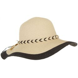 Womens Braided Band Floppy Hat