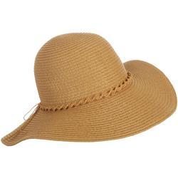 Womens Braided Band Floppy Hat