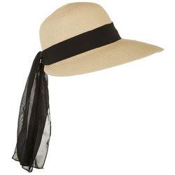 Mad Hatter Womens Sheer Scarf Trim Sun Hat