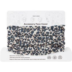 Womens Leopard 4 Way Cowl Facemask