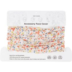 Womens Floral 4 Way Cowl Facemask