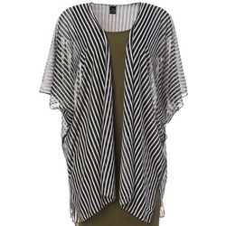 Cejon Accessories Women Burnout Stripe Kimono