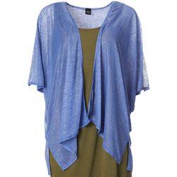 Cejon Accessories Women Solid Slub Kimono