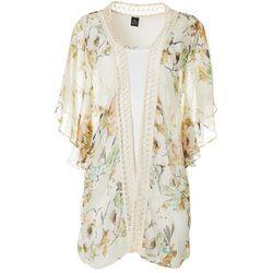 Cejon Accessories Womens Floral Print Kimono