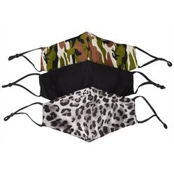 Womens Printed Adjustable 3-pc. Face Covering