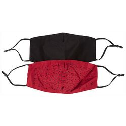 Womens Bedazzled Adjustable  Face Covering