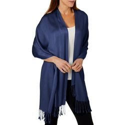Womens Solid Fringe Scarf