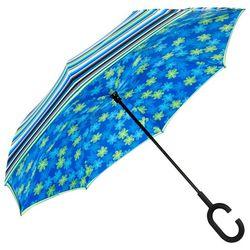 ShedRain UnbelievaBrella Stripe & Floral Reverse Umbrella
