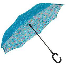 ShedRain UnbelievaBrella Stripes & Dots Reversible Umbrella
