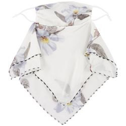 Womens Floral Print 2 in 1 Facemask Scarf