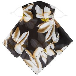 Womens Magnolia Floral 2 in 1 Facemask Scarf