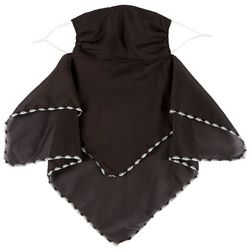 Womens Solid 2 in 1 Facemask Scarf