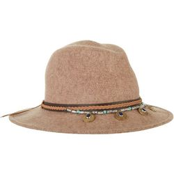 Scala Womens Wool Braid And Bead Detail Safari Hat