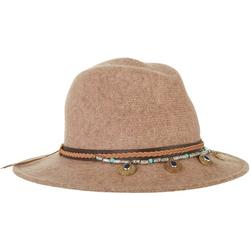 Womens Wool Braid And Bead Detail Safari Hat