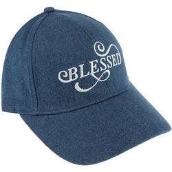 Capelli Womens Blessed Embroidered Denim Cap