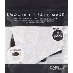 Capelli Womens 2-pk. Ditsy Floral Face Masks