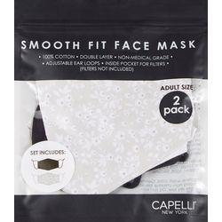 Womens 2-pk. Ditsy Floral Face Masks