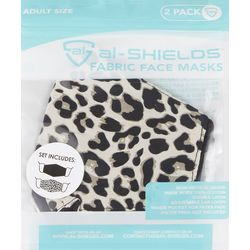 2 Pk. Cheetah Face Mask Set