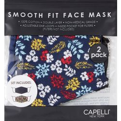 al-Sheilds Womens 2-pk. Floral & Solid Face Mask