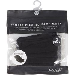 Capelli 3-Pk. Solid Face Mask Set