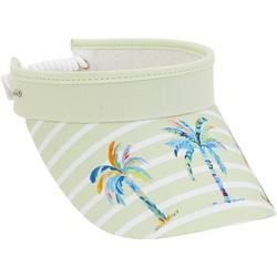 Womens Palm Stripe Coil Back Visor
