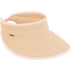 Sun N' Sand Womens Paper Braid Visor