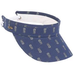 Womens Pineapple Coil Back Visor