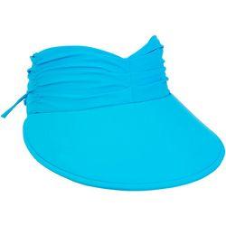 Sun N' Sand Womens Poly Adjustable Tie Sun Visor