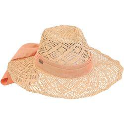 Sun N' Sand Womens Diamond Seagrass Straw Sun Hat