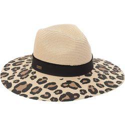 Sun N' Sand Womens Leopard UPF Wide Brimmed