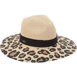 Womens Leopard UPF Wide Brimmed Hat
