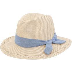 Sun N' Sand Womens Chambray Banded Safari Sun Hat