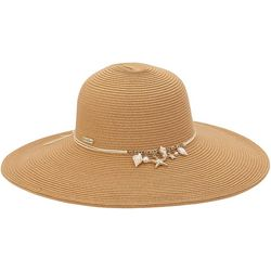 Sun N' Sand Womens Seashell Charm UPF Sun Hat