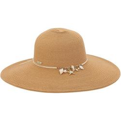 Womens Seashell Charm UPF Sun Hat