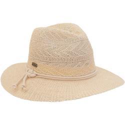 Womens Solid Braided Safari Hat