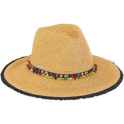 Sun N' Sand Womens Pom Pom Fringe Safari Hat