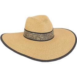 Womens Cheetah Print Floppy Hat