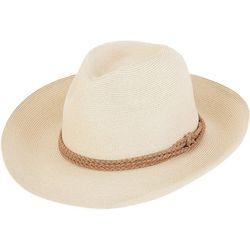 Sun N' Sand Womens Braided Wide Brim Sun Hat