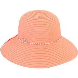 Sun N' Sand Womens Braided Trim Ribbon Hat