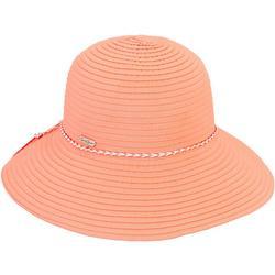 Womens Braided Trim Ribbon Hat