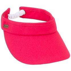Womens Solid Coil Back Visor