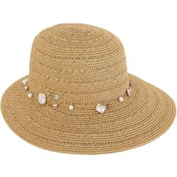 Womens Shell & Bead Sun Savor Hat