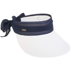 Sun N' Sand Womens Sheer Bow Visor