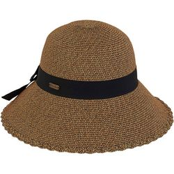 Sun N' Sand Womens Straw Bow Buckle Hat