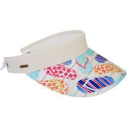 Womens Flip Flop Print Coil Back Visor