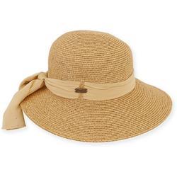 Womens Scarf Brim Sun Hat